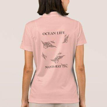 Beach Themed OCEAN LIFE manta-ray spirit Polo Shirt