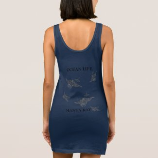 OCEAN LIFE manta-ray spirit Sleeveless Dress