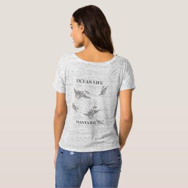 Beach Themed OCEAN LIFE manta-ray spirit T-Shirt
