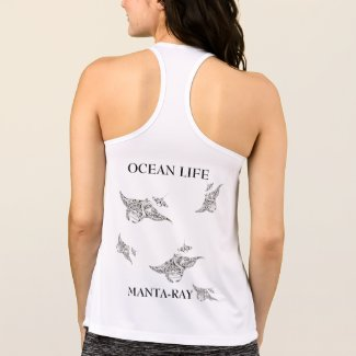 OCEAN LIFE manta-ray spirit Tank Top