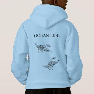 OCEAN LIFE manta-rays Hoodie