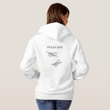 Beach Themed OCEAN LIFE manta-rays Hoodie