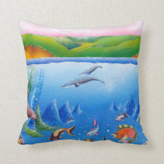 Ocean Life: Pillow | Cotton Throw Pillow