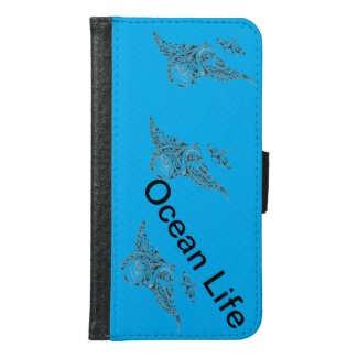 Ocean Life Products Samsung Galaxy S6 Wallet Case