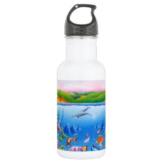 Ocean Life: Save the Planet: Bottle (18 oz), White