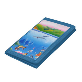 Ocean Life: Save the Planet: TriFold Nylon Wallet