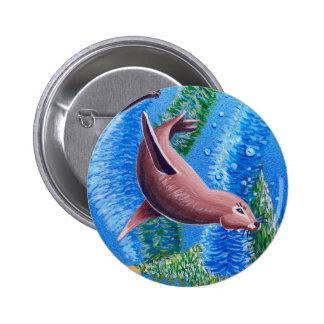 Ocean Life: Sea Lion: Round Button