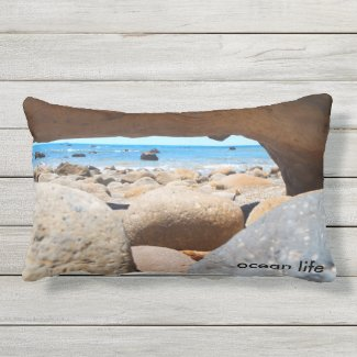 ocean life throw cushion