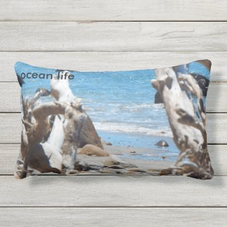 ocean life throw cushion beach