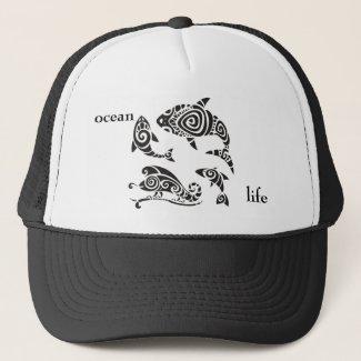 ocean life trucker hat
