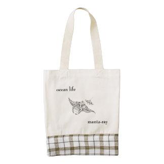 ocean life zazzle HEART tote bag
