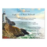 Ocean Lighthouse Wedding Invitation