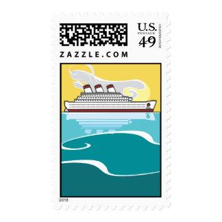 Ocean Liner #2 Postage Stamp