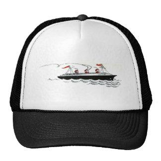 Ocean Liner at Sea Line Drawing Trucker Hat