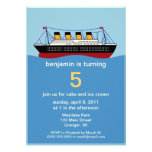 Ocean Liner Birthday Party Invitations
