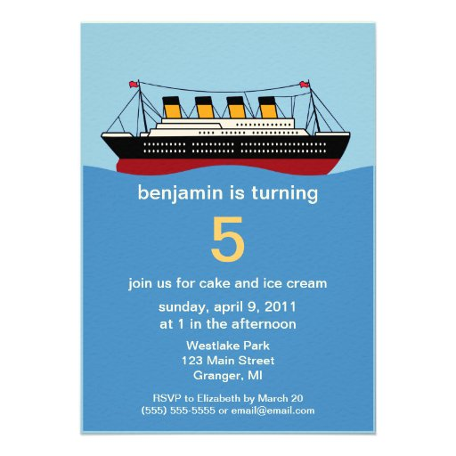 Personalized Cruise Ship Invitations