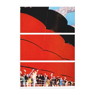 Ocean Liner Bon Voyage - L Canvas Print