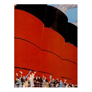 Ocean Liner Bon Voyage Postcards