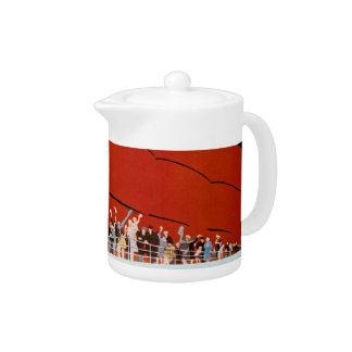 Ocean Liner Bon Voyage Teapot