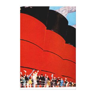Ocean Liner Bon Voyage - XL Canvas Print
