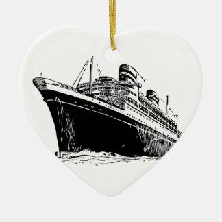 Ocean Liner Ceramic Ornament