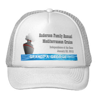 Ocean Liner Custom Cruise Cap Trucker Hat