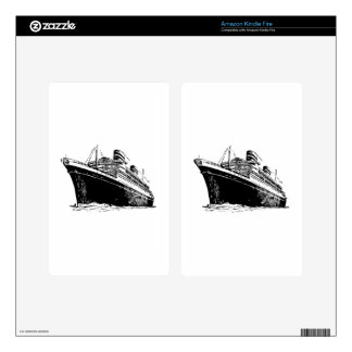 Ocean Liner Decal For Kindle Fire