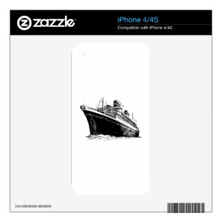 Ocean Liner Decals For The iPhone 4S