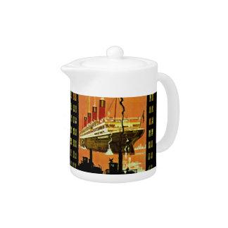 Ocean Liner Departure Teapot