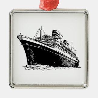 Ocean Liner Metal Ornament