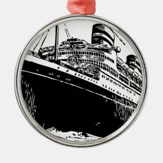 ocean liner. metal ornament