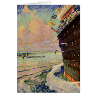 Ocean Liner seascape Stationery Note Card