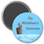 Ocean Liner Sm. Stateroom Door Marker 3 Inch Round Magnet