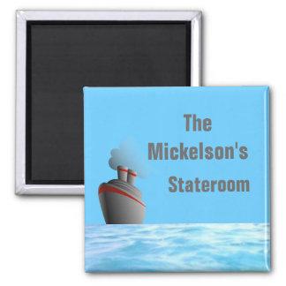 Ocean Liner Stateroom Door Marker Fridge Magnet