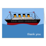Ocean Liner Thank You note cards