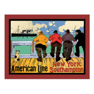 Ocean LINER to New York Postcard
