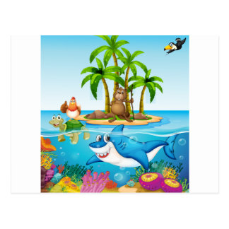 Ocean lives postcard