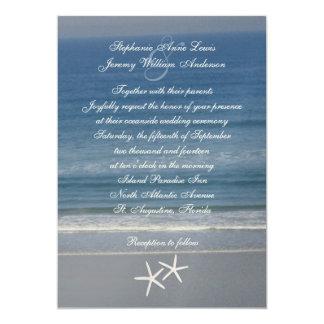 Ocean Love Starfish Couple Wedding Invitations
