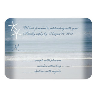 Ocean Love, Starfish Couple Wedding Reply Cards
