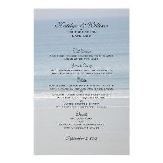 Ocean Love Wedding Menu Cards