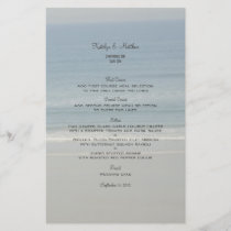 Ocean Love Wedding Menu Template