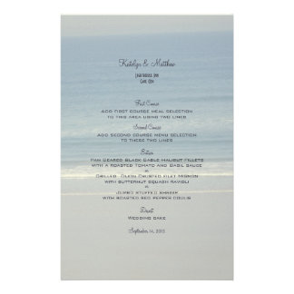 Ocean Love Wedding Menu Template