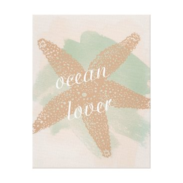 Beach Themed Ocean Lover Canvas Print