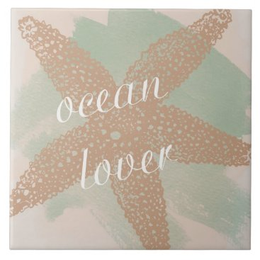Beach Themed Ocean Lover Ceramic Tile