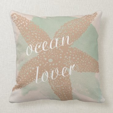 Beach Themed Ocean Lover Throw Pillow