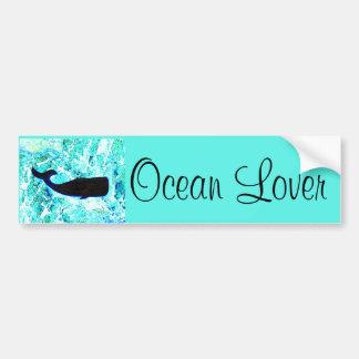 ocean lover whale bumper sticker