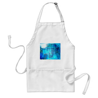 Ocean Lovers Blue abstract popular painting Adult Apron