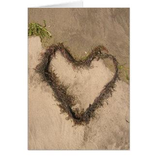 Ocean Lovers Heart Card