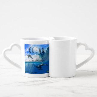 Ocean lovers mosquito couples' coffee mug set