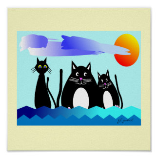 """""""Ocean Loving Cats"""" Poster"""